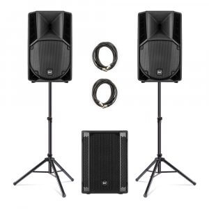 2x RCF ART-710A + 702-AS II Subwoofer PA Package