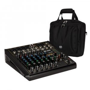 RCF F-10XR 10 Channel Mixing Console Recording Karaoke FX Desk + Bag