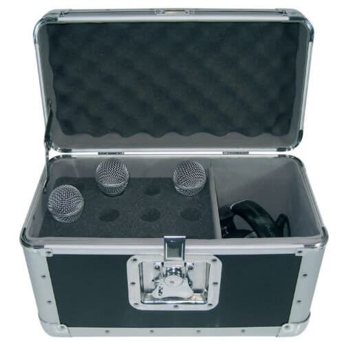 American Audio Microphone Flightcase Fits 12 Microphones System Audio