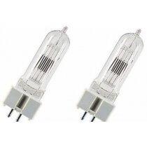 2X GE T26 240V 650W G9.5 GCS LAMPS