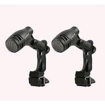 2x Pulse D-606 Tom / Snare Mic inc. shock mount drum clip