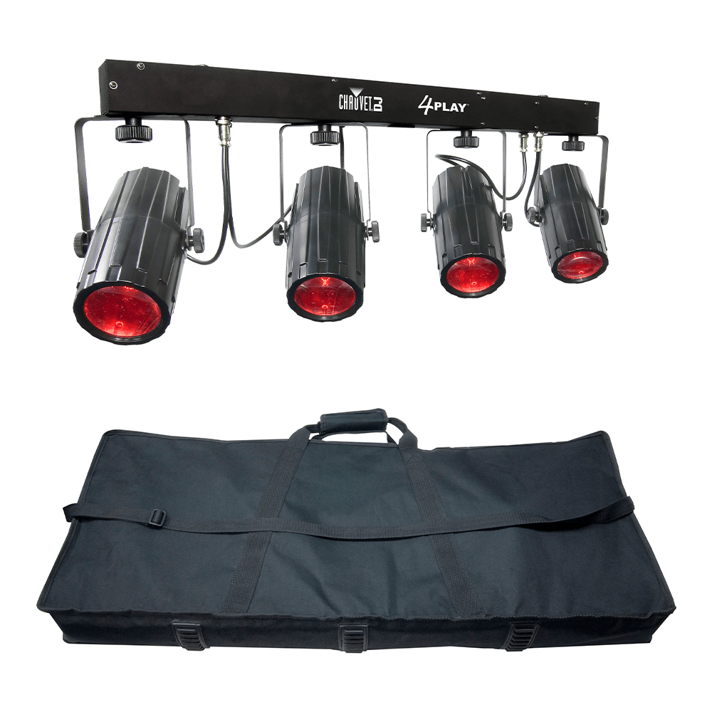 Chauvet DJ 4Play 4 Head LED High Power Moonflower inc. Bag