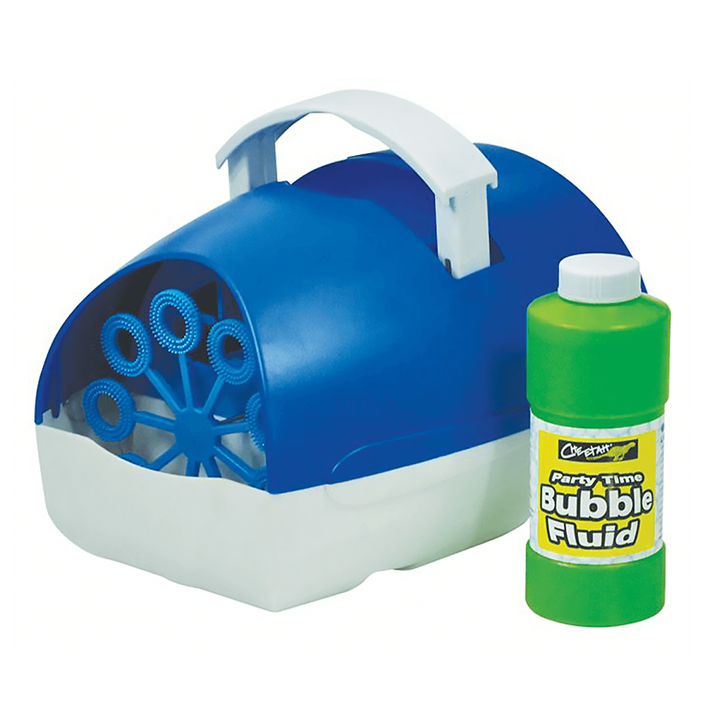 Cheetah Battery Powered Bubble Machine inc. Fluid (Blue)