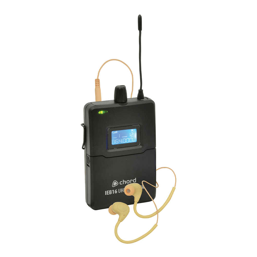 Chord IEM16 V2 UHF In Ear Monitoring System (Beltpack Only)