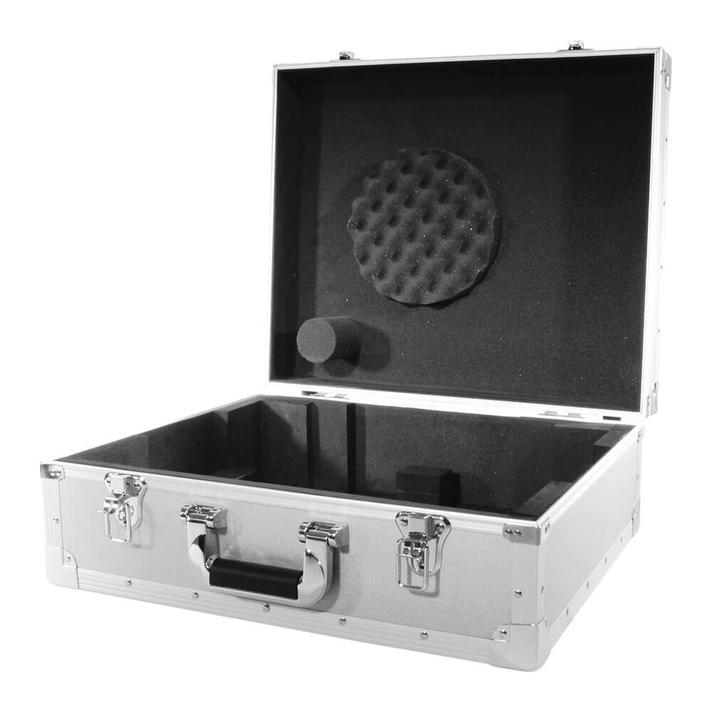 Roadinger Turntable Flight Case Silver Flightcase DJ Disco Decks Vinyl Case