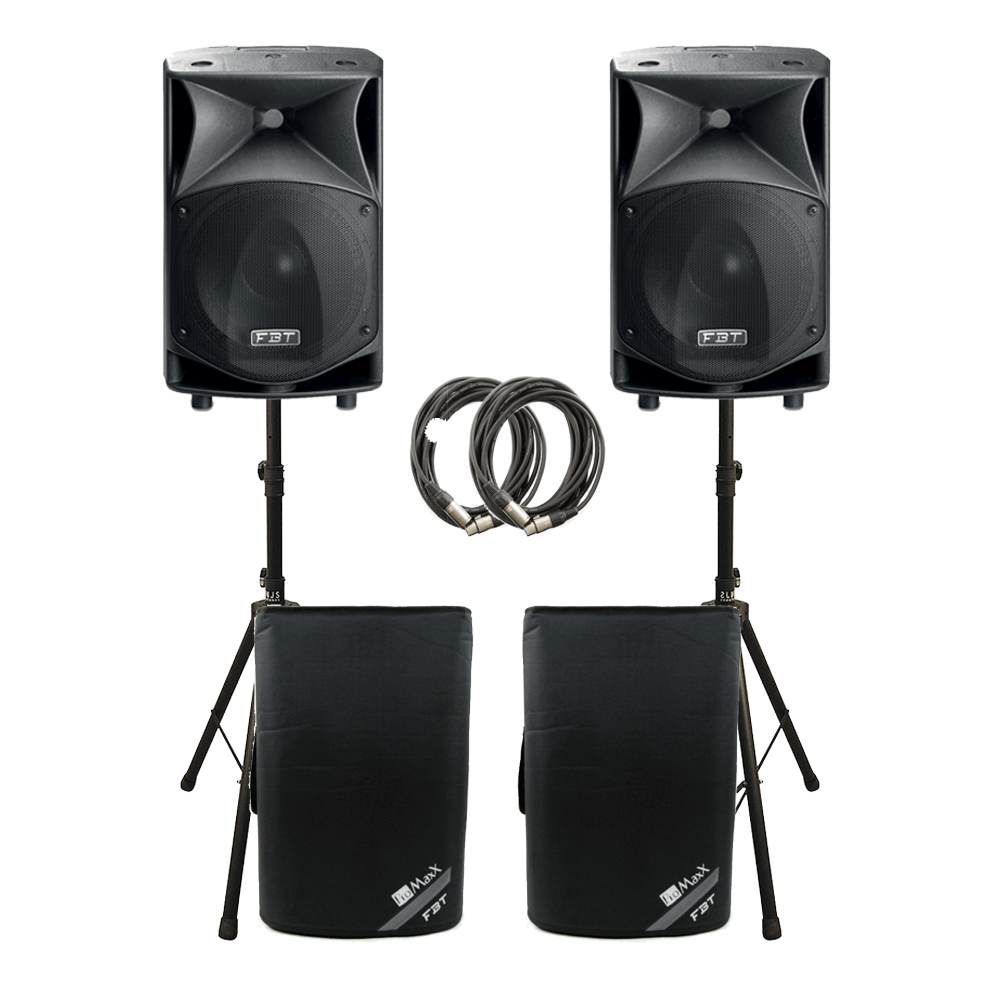 2x FBT JMAXX 114A 1800W Active 2 Way Speaker Sound System PA Bundle