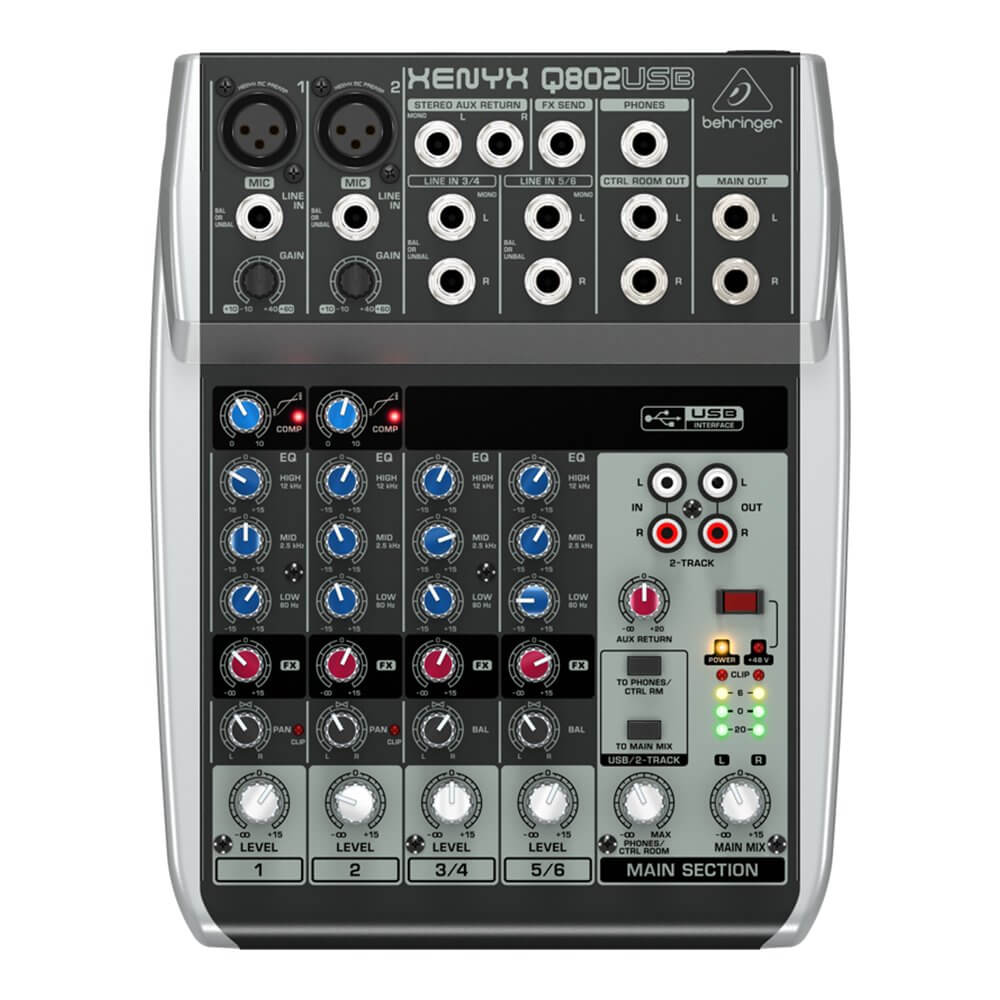 Behringer Xenyx Q802USB 8-Input Mixer