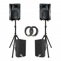 2x FBT JMAXX 110A 1800W Active 2 Way Speaker Sound System PA Bundle