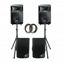 2x FBT JMAXX 112A 1800W Active 2 Way Speaker Sound System PA Bundle