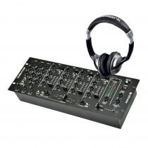 Citronic CDM8:4 USB Mixer & Numark HF125 Headphones