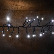 Lyyt Cluster LED Outdoor String Lights Twinkle Effect Cool White Fairy Light 7.5M