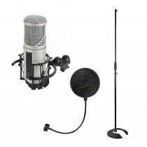 Citronic CU-MIC Studio Microphone with USB Audio Interface Podcast Recording Kit