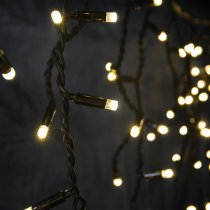 Lyyt Icicle-Inspired Outdoor Warm White LED String Connectable Light Christmas