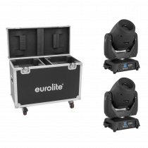 2X Eurolite TMH-X12 LED 120W Moving Head Head Spot Gobo Prism Lighting Bundle