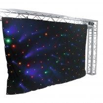 Eurolite RGBA LED DMX Starcloth Curtain (3m x 2m)