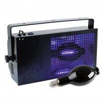 Eurolite 400W Black Floodlight Flood Wash UV Ultraviolet Party Neon Rave Cage inc lamp