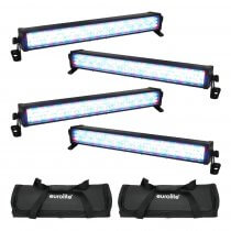 4x Eurolite LED Bar-126 RGB 1/2M Light Bar Batten Uplighter DJ Disco Lighting Bundle