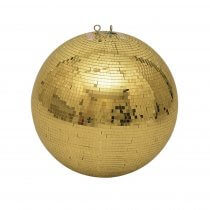 Eurolite Mirror Ball 40cm 400mm Gold Mirrorball Glitter Ball Decor Dancefloor DJ Club