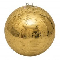 Eurolite Mirror Ball 50cm 500mm Gold Mirrorball Glitter Ball Decor Dancefloor DJ Club