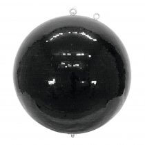 Eurolite Mirror Ball 75cm 750mm Black Mirrorball Glitter Ball Decor Dancefloor DJ Club