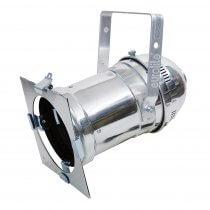 Eurolite Par 56 Silver 500W Lighting Par Can inc Lamp & Gel Colour Filters