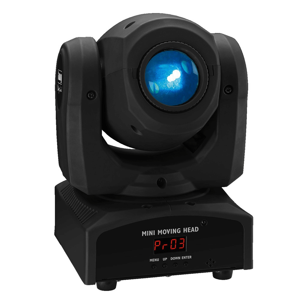 IMG Stageline Moving Head 12W LED Gobo inc IR Remote TWIST-1LED