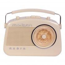 Madison Vintage Radio with bluetooth & AM/FM Radio