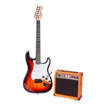 Madison Vintage Electric Guitar Sunburst Set inc Amplifier, Tuner, Bag and Strings