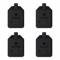 4x MasterPlug 15A Round Pin Heavy Duty Socket for Stage Lighting Theatre Dimmer 1 Gang
