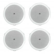4x Monacor EDL-606 100V Celing Speaker 6W PA System Background Music Restaurant Bar