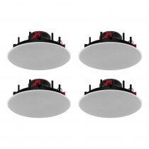 "4x Monacor EDL-62HQ 6.5"" 100V Coaxial Ceiling Speaker 30W RMS PA System Flushfit"