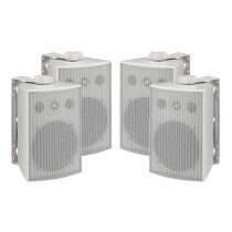 Monacor ESP-250/WS 100V Weatherproof White Background Speaker PA