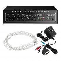 Monacor LA-40 Hearing Loop Amplifier Induction Loop inc Cable Church Sound System