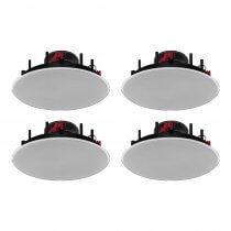 "4x Monacor SPE-62HQ 6.5"" 35W 8ohm White Ceiling Speaker"