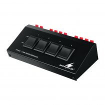 Monacor SPS-40S 4 Way Switch Box - Connects up to 4 Speakers to 1 Output