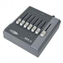 Showtec SDS-6 DMX Controller Fader desk 6 Channel Battery & PSU powered