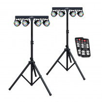 2x Kam Partybar Eco inc Stand & Remote