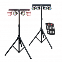 Kam Partybar Eco + Derby FX LED inc Stands