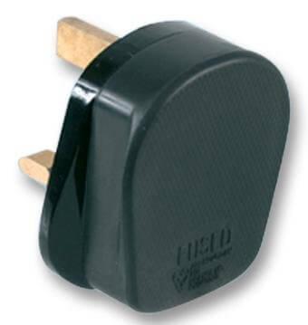 Mains Plug 13amp Black