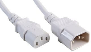 Power Extension IEC 10M M - F Kettle Type Lead Cable 10A White
