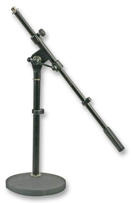 PULSE  PLS00047  Short Microphone Stand with Boom Round Base