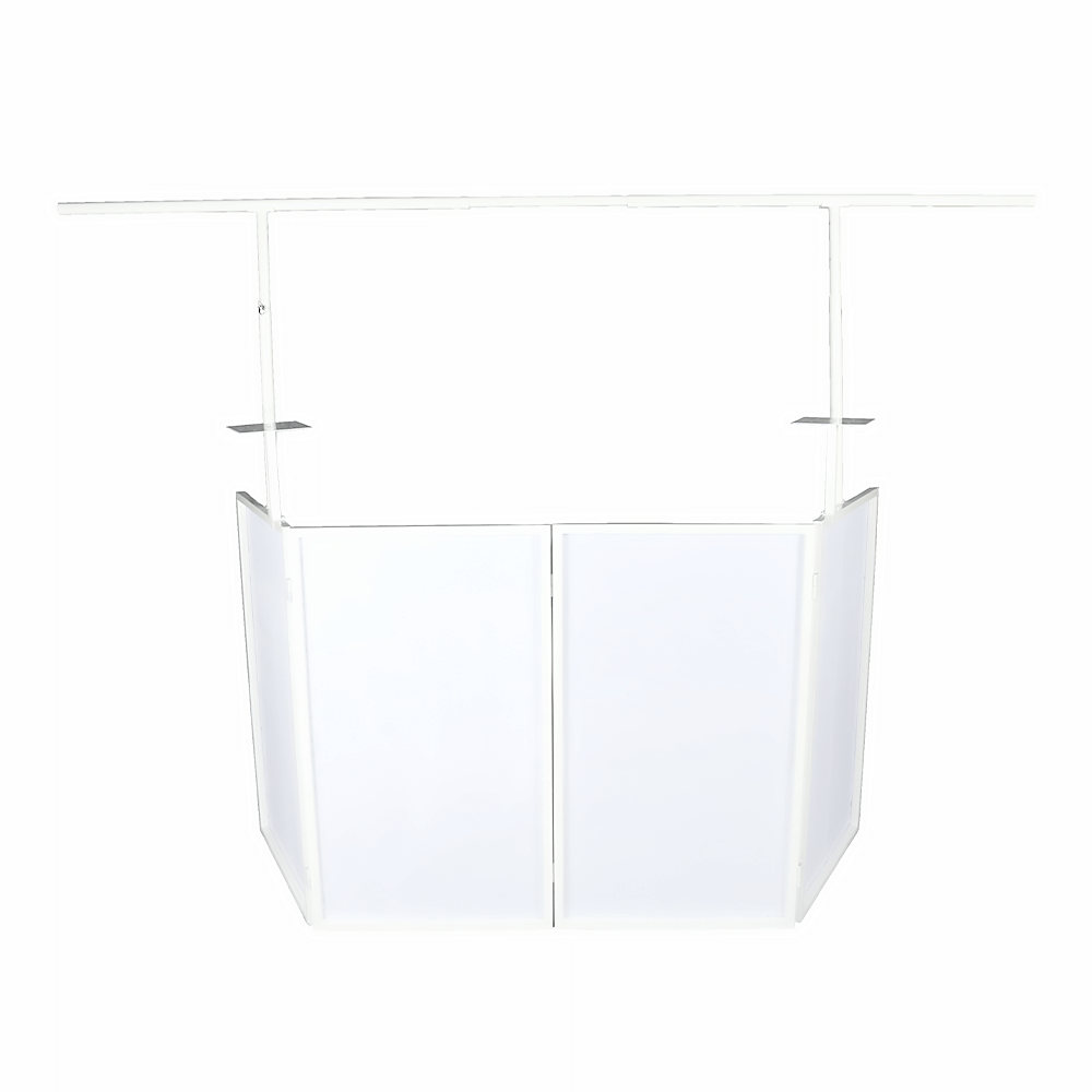 NovoPro SDXV2 Foldable DJ Booth with Lighting Rig, Podiums & Bags (White)