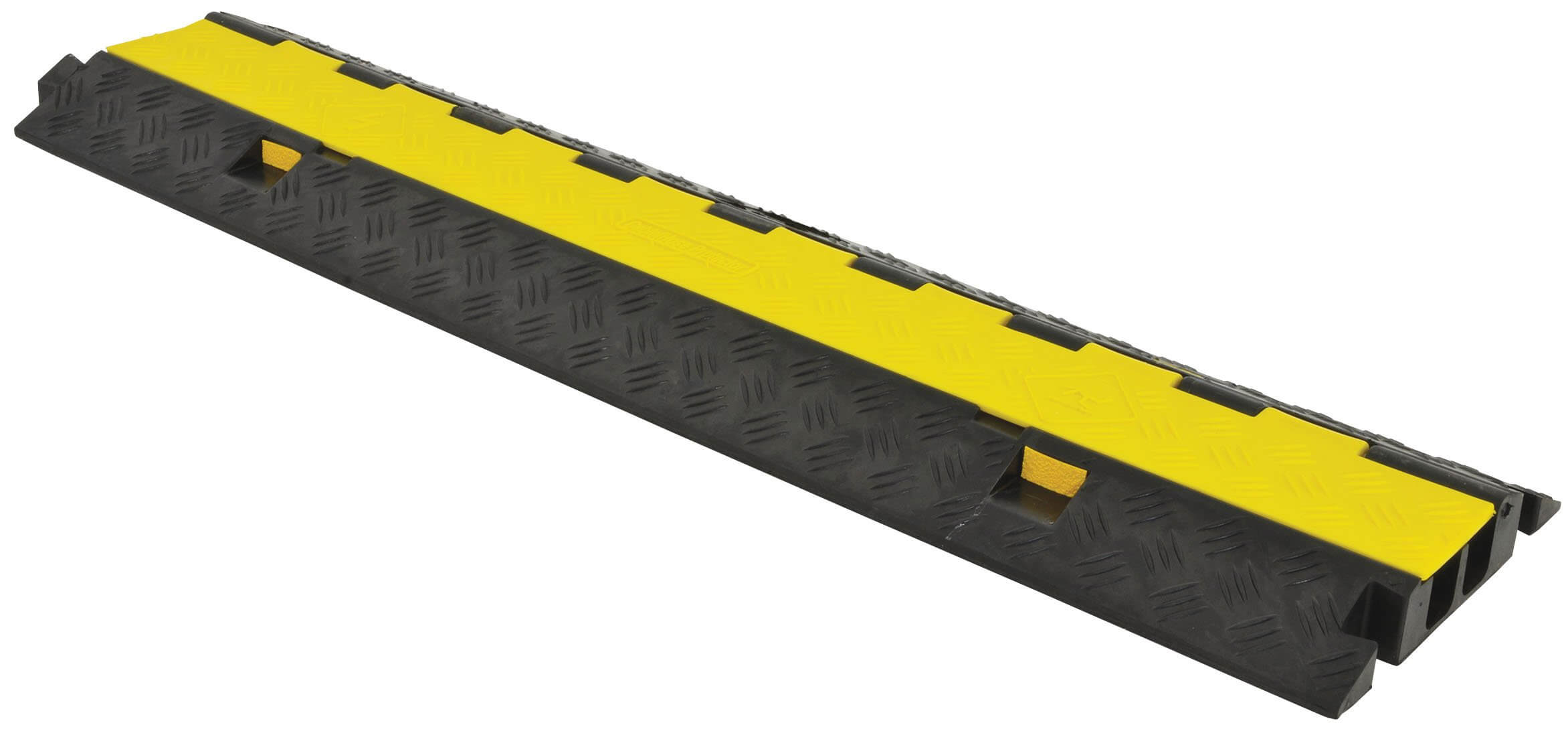 2-Channel Rubber Cable Guard Bridge Protector 8T Load Event Safety Vehicle Ramp