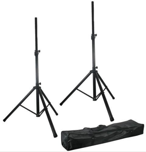 Pulse Speaker Kit Stand Black Metal Heavy Duty 35MM Sound System