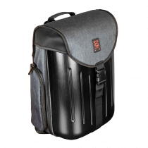 Odessey Battle pack hard shell dj backpack in charcoal black