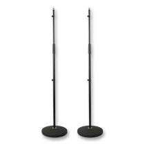 2x Thor MS001 Round Base Microphone Stands