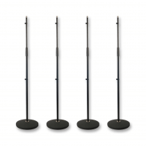 4x Thor MS001 Round Base Microphone Stands