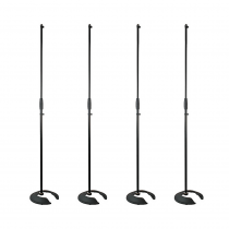 4x Thor MS002 Stackable Microphone Stands