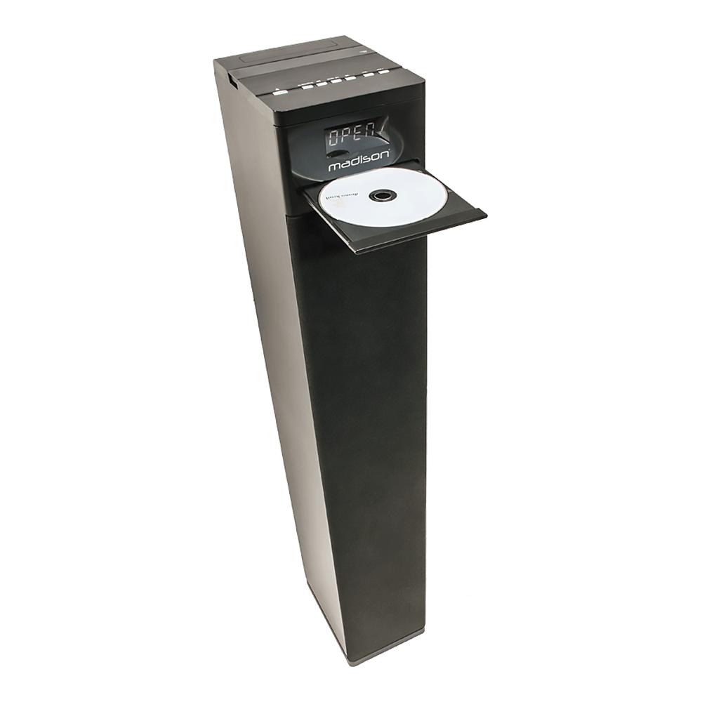 Madison 130W Multimedia Tower inc. CD Player, Tuner, USB & Bluetooth
