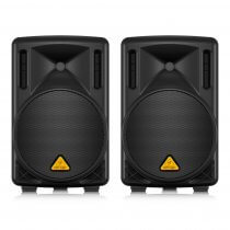 2x Behringer B210D Active PA Speakers 200W 10""